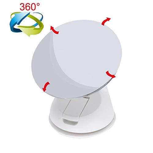 LLJDD Diámetro: 85 mm (Blanco), automóvil Auto 360 Grados Ajustable Bebé Vista Espejo Posterior Bebé Seguridad Bulging Spiral