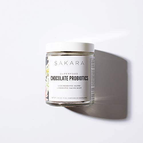 Sakara Chocolate Probiotic Organic Supplement for Digestion & Immune Health 30ct