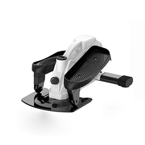 Ejercicio Step Machine Stepper, pequeña máquina elíptica silenciosa de doble accionamiento para interiores, andador espacial para correr, equipo de fitness para el hogar (blanco, 67 * 43 * 31 cm)