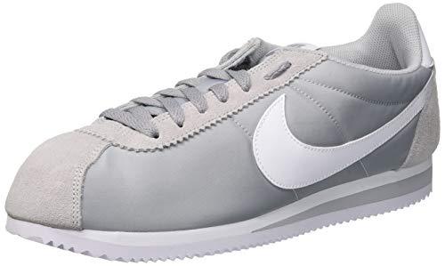 Nike Herren Classic Cortez Nylon Laufschuhe, Grau (Wolf Grey/White 010), 44.5 EU