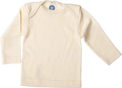 Cosilana, Baby-Schlupfhemd Unterhemd Langarm, 70% Wolle 30% Seide (74-80, Natur)