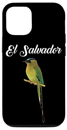 iPhone 12/12 Pro El Salvador Torogoz National Bird Salvadorian Pupusas Flag Case
