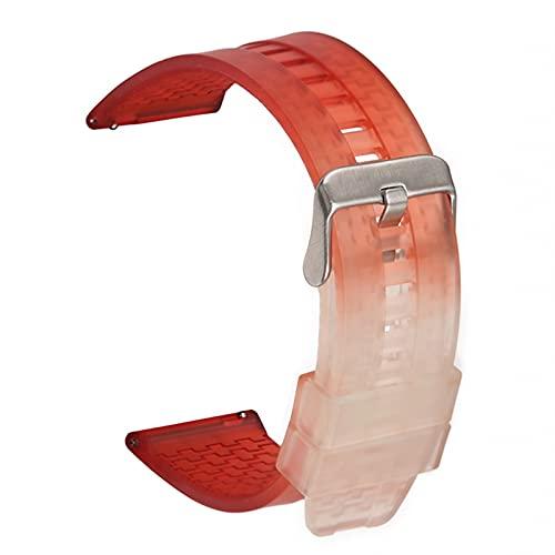 MGHN Correa de silicona Reloj de reloj 22 mm suave silicona correa curvada codo deportes hombres y mujeres de goma universal de la muñeca de la muñeca de la pulsera de la banda de la pulsera de la cor