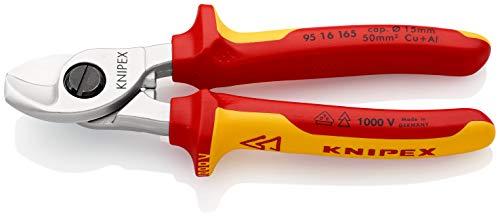 KNIPEX 95 16 165 Cortacables aislados con fundas en dos componentes, según norma VDE 165 mm