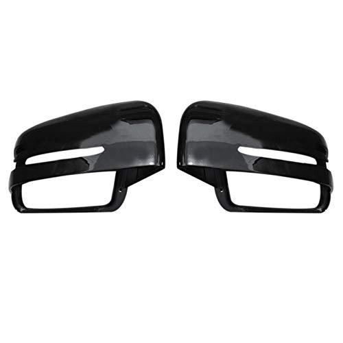 ATMASDO Reemplazo de la cubierta del espejo retrovisor negro, cubierta del espejo de la puerta lateral, para Mercedes Benz W463 W166 W164 MRG GL GLE GLS Cl