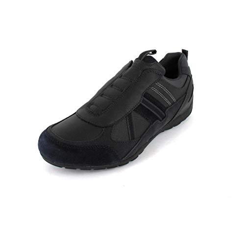 Geox Herren Sneaker RAVEX, Männer Low-Top Sneaker,lose Einlage, Halbschuh strassenschuh sportlich maennliche maskulin rustikal,BLAU,39 EU / 6 UK
