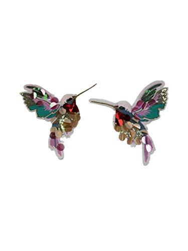 Chakil 1 Paar Stoff-Aufkleber mit Vogel-Motiv, für Schuhe, Hüte, Taschen, Accessoires, zum Basteln, Größe 17,5 x 14,0 cm