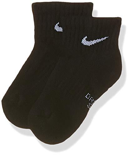 NIKE Y Nk Everyday Cush Ankle 3pr Socks, Unisex niños, black/(white), S