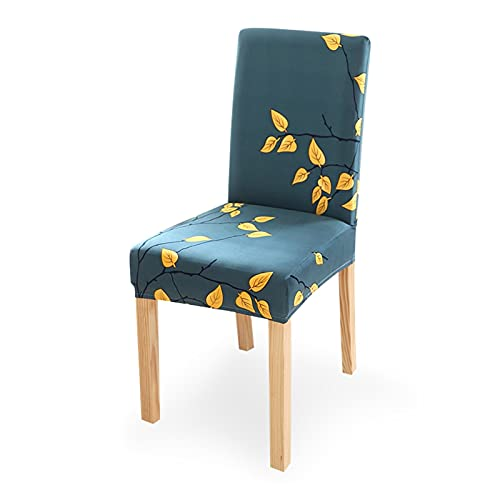 ClearloveWL Fundas de Silla, 1/2 / 4 / 6pcs Impreso Cubierta de silla de comedor elástica impresa Spandex Silla de silla Protector Protector Protector de polvo para la fiesta de banquete de boda