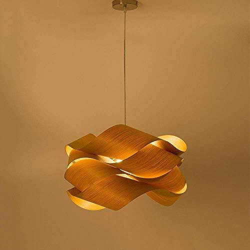 Lámpara colgante de techo de luz japonesa Candelabro de madera moderno minimalista Restaurante Cafe E27 Sala de estar Dormitorio Balcón Candelabros