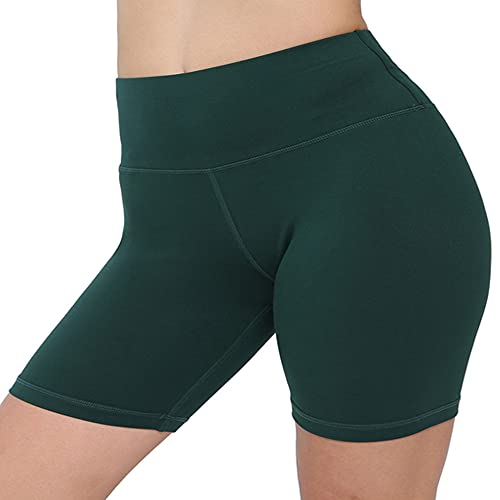 Biker Shorts Mujeres Sólido Push Up Fitness Shorts Ropa de Cintura Alta