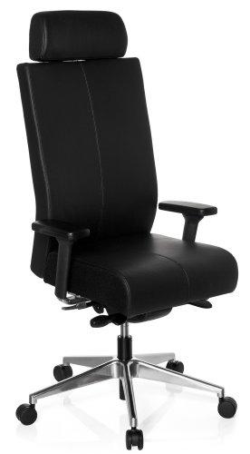 hjh OFFICE Bürostuhl/Drehstuhl PRO-TEC XXL Leder schwarz