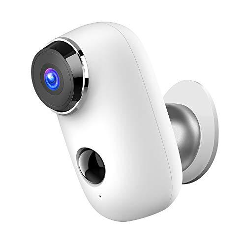 HeimVision Akku Überwachungskamera Außen, 1080P Kabellose WLAN Kamera Outdoor mit PIR Bewegungsmelder, IP65 wasserdichte WiFi Sicherheitskamera, 2-Wege Audio, IR Nachtsicht