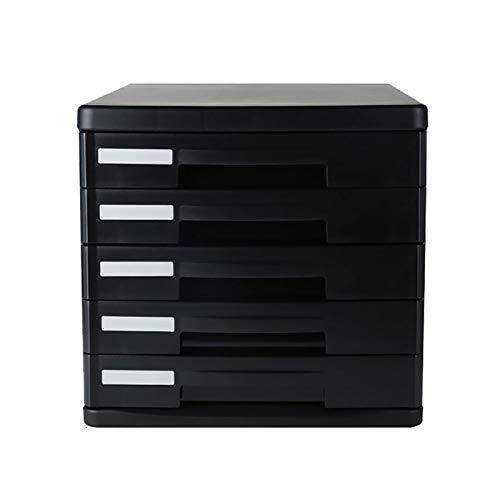 Skåp med platt förvaring, skåp för skrivbordslådor, svart 4/5 hyllskåp för skåp, liten låda för kontorsmaterial förvaringsbox kullar samlingshållare. (Storlek: 5 drag)