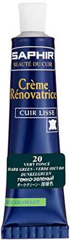 [Safir] Reno Hetze Farbe Reparaturcreme 25 ml Schuhe Tasche Kratzer verblasste Leder 9550851 dunkelgrün