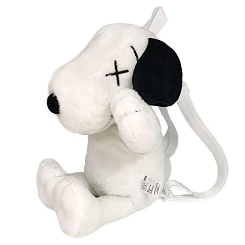 Yuanfbh Mochilas de Peluche Bolsa Kawaii Mochilas Felpa muñeca de la Felpa Animales Relleno Felpa de la muñeca Snoopy Lindo Perro de la Escuela Juega el Regalo de cumpleaños de los (Color : White)