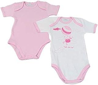 05832//1407//04 Rosa Liabel 3 Body neonata Mezza Manica 100/% Cotone Art