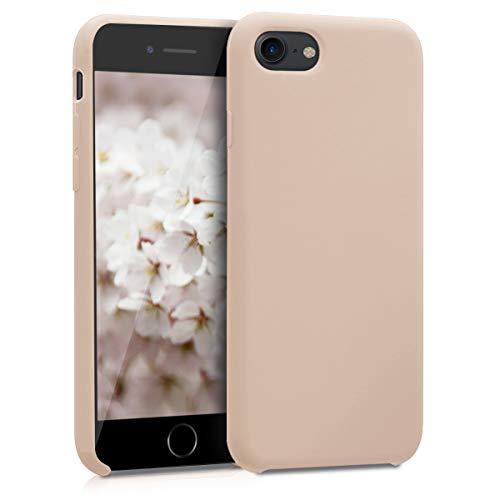 kwmobile Hülle kompatibel mit Apple iPhone 7/8 / SE (2020) - Handyhülle gummiert - Handy Hülle in Perlmutt