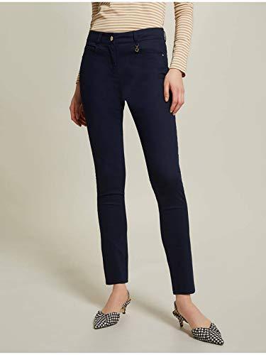 Pennyblack Pantaloni LACRIMA-3 Blu Skinny in Gabardine Donna (38)