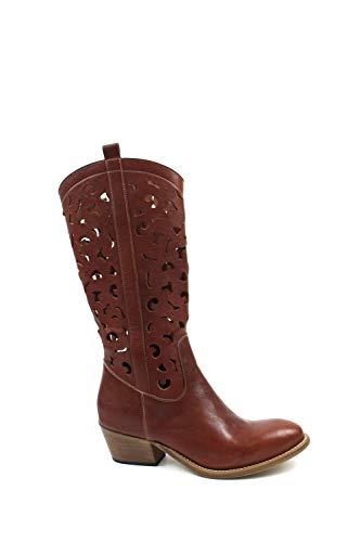 Botas Texano para mujer con números grandes de cabra de cuero con pierna perforada