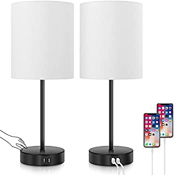 Set of 2 Bosceos Touch Control Dimmable Desk Lamp
