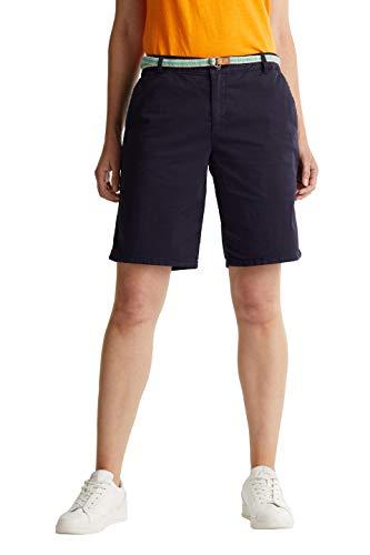 ESPRIT Damen Mit Gürtel, Bermuda Shorts, 400/NAVY, 36