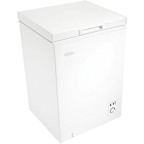3.6 cuft Chest Freezer, 1 Basket, Up Front Temperature Control