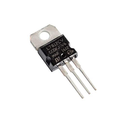AmyELE L7812CV LM7812 - Regulador de voltaje IC, 12 V, 1,5 A, TO-220 (10 unidades)