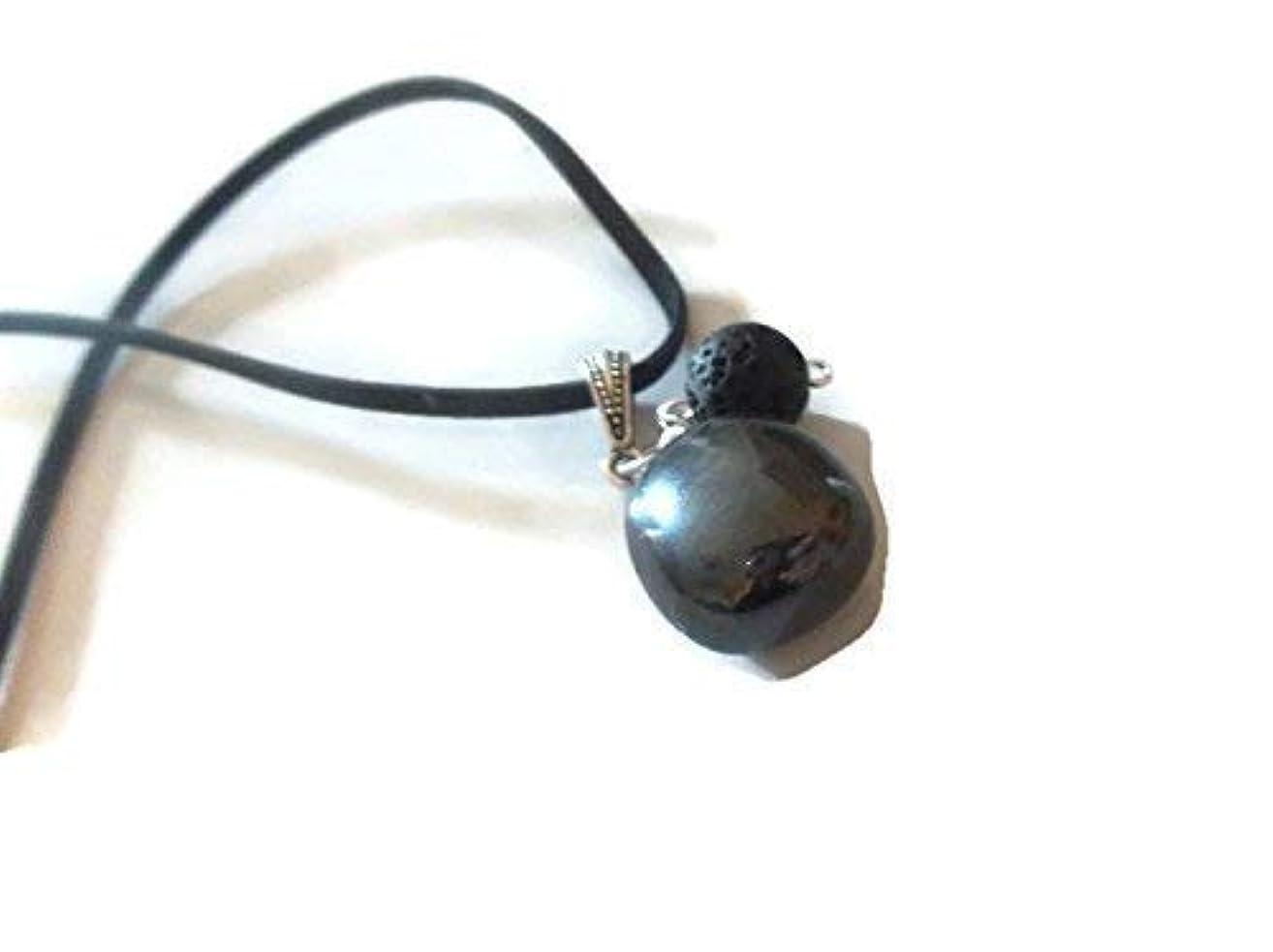 Hematite Gemstone Necklace Lava Rock Aromatherapy Essential Oil Diffuser Pendant Spiritual Crystal Jewelry