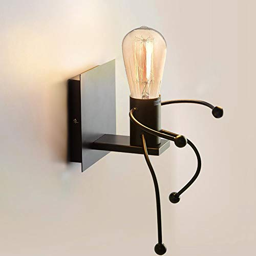 Applique Murale Interieur, Cozihoma Lumière industrielle lumière rétro Creative E27 Iron Art Art déco pour salon, chambre à coucher lampe murale