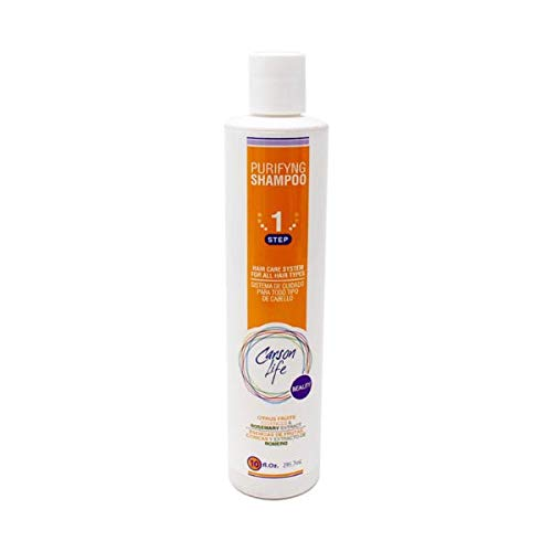 CARSON LIFE Purifying Shampoo - for All Hair Types - 10 oz - Made with Fruits and Herbs Extracts - Energize and Stimulate Hair - Helps Prevent Hair Loss and Dandruff - Made in The USA