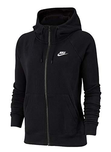 Nike Damen Kapuzensweatshirt Nk Dry, Black/White, M