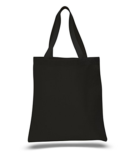5 Pack Promotional Priced Heavy Cotton Canvas Shopping Blank Tote Bag Art Craft