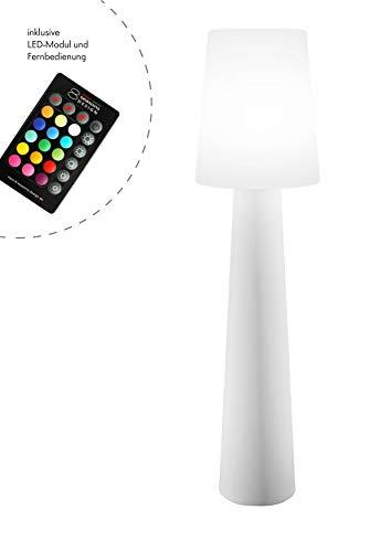 8 seasons design No. 1 Lampe, Polyethylen, Weiß, H 160 cm