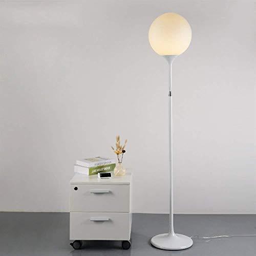 ZUQIEE Lámparas de pie Lámpara de Piso, Minimalista Moderna Mesa de café de Cristal de pie luminarias for Sala de Estar Dormitorio Bombilla lámpara de cabecera Creativo Verticales contenidas