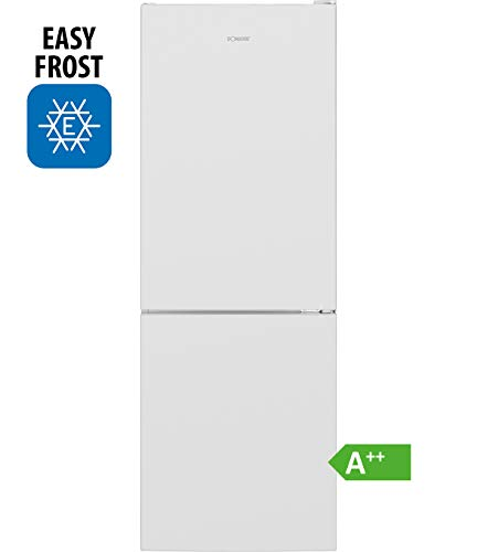 Bomann Kühl-/Gefrierkombination KG 7320 / Easy-Frost/Wechselbarer Türanschlag/LED-Beleuchtung / weiß