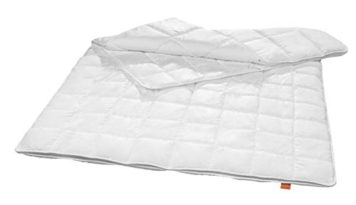 sleepling Sanitized® 197037 - Piumino antibatterico antiacaro, 4 stagioni (peso imbottitura: 520 + 1065 gr), 155 x 220 cm, colore: Bianco