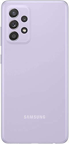 Samsung Galaxy A52 Smartphone, Display Infinity-O FHD+ da 6,5 pollici, 6 GB RAM e 128 GB di memoria interna espandibile, Batteria 4.500 mAh e ricarica Ultra-Rapida Violet [Versione Italiana]
