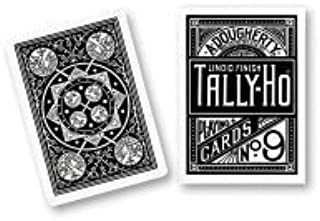 MMS Cards Tally Ho Fan Back (Black) - Trick