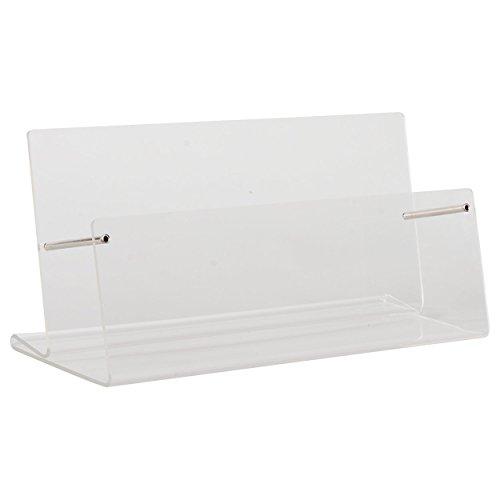 Gutscheinständer aus Acrylglas Werbe Prospekt Ständer Flyerständer für DIN lang