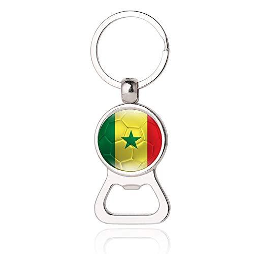 Senegal Flagge Bier Flaschenöffner Metall Glas Kristall Schlüsselb& Reise Souvenir Geschenk Schlüsselanhänger Zubehör