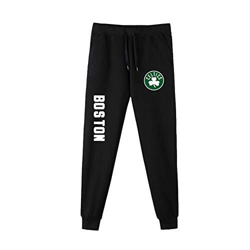 Z/A Boston Celtics Herren Sport Hosen Trainingswissenschaft Basketball Jogginghose Beiläufige Bequeme Lose Team-Logo-Hosen Für Die Jugend,L