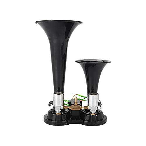 RGLZY Dual Trompeta Cuerno Eléctrico, 12V 24V Altavoz Dual/Aire Cuernos Trompeta Muy...