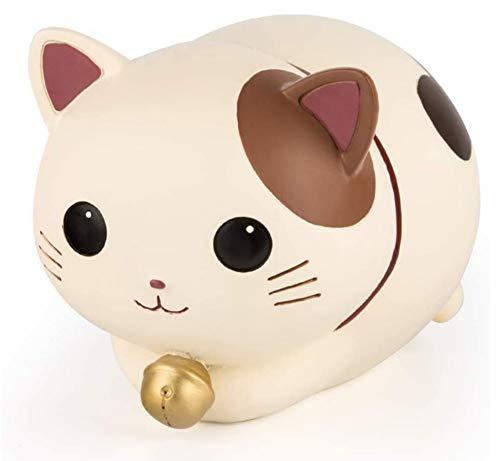 Hucha de la suerte, hucha de animales de dibujos animados para niños adultos, linda moneda de gato Hucha Hucha de Navidad regalo de cumpleaños para niños