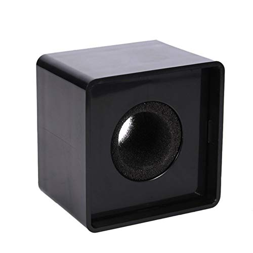 Aysekone Portable Black ABS Injection Molding Square Cube Shaped Interview Mic Microphone Logo Flag Station