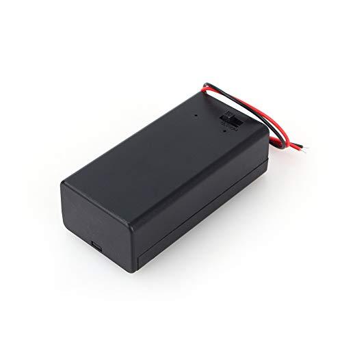 214 Portabatterie da 9 V, Cavo Vano portabatterie al Piombo Coperchio Interruttore ON/off Connettore Custodia Batteria da 9 Volt con Clip a Molla