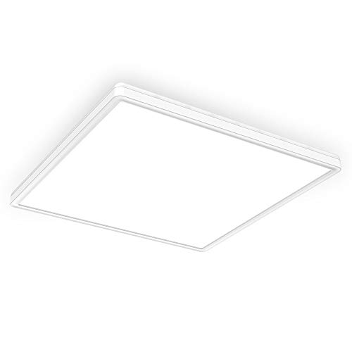 B.K.Licht 22 Watt LED Panel I 420x420x29mm I Dimmbar I Ultra Flach I indirektes Licht I Memoryfunktion I neutralweiße Lichtfarbe I 3.000lm I LED Deckenleuchte I Deckenlampe
