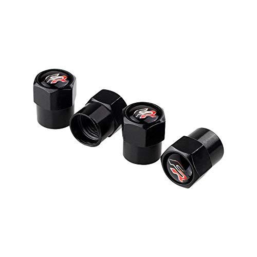 Tapas para válvulas de neumáticos 4 unids / set rueda de automóvil Válvula de neumático Válvula Tapas de aire compatible con Seat Leon Fr Altea Ibiza Toledo Córdoba Alhambra Arona ATECA EXEO AUTO STYL