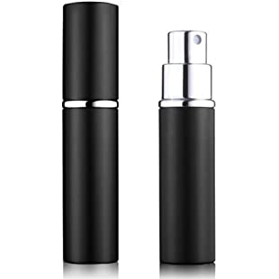 5starwarehouse® Refillable Perfume Atomiser Atomizer Aftershave Travel Spray Miniature Bottle 6ml (Black)