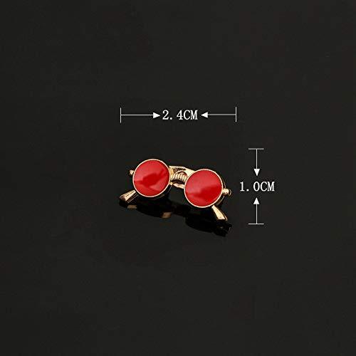 BRTTHYE zonnebril mode zonnebril broche pin heren dames pak hemd kraag accessoires